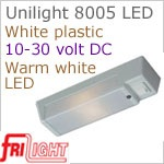 CLOSE OUT SALE - 12 volt LED Utility Light (10-30vdc) - FriLight 8005 Unilight with rocker Switch, choice of LED