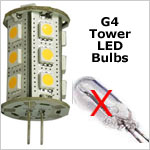 12 volt LED Bulbs - G4 Tower LED Bulbs