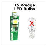 12 volt LED Bulbs - T5 Wedge LED Bulbs