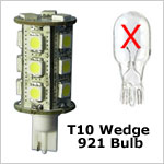 12 volt LED Bulbs - T10 (921-922) Wedge LED Bulbs