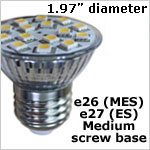 12 volt LED Bulbs - E26 / E27 Medium Screw LED Bulb