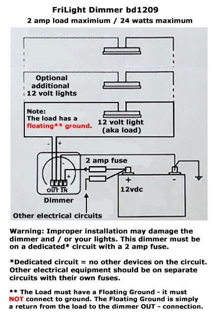 FriLight bd1209 12 volt dimmer