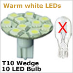 T10 Wedge LED light bulb