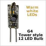 G4 Tower style 12 volt led light bulbs