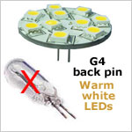 G4 back 12 Volt LED light Bulb