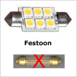 12 volt LED Bulbs - Festoon LED Bulbs