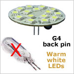 G4 back LED light bulb
