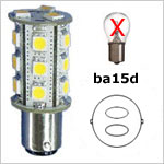 12 volt LED Bulbs - Bayonet BA15D LED Bulbs
