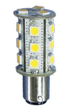 12 Volt Led Bulb 10 30vdc Ba15d Double Bayonet Base