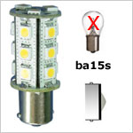 12 volt LED Bulbs - Bayonet BA15S LED Bulbs