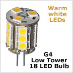G4 tower 12 Volt LED light bulbs