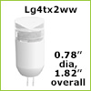 12 Volt LED light Bulbs (10-30vdc), G4 Tower Warm White, 160 Lumens