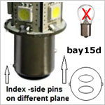 12 volt LED Bulbs - Bayonet Bay15d LED Bulbs