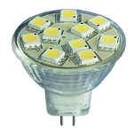 12 volt AC LED Bulb (ac-dc), MR 11 GU4, COOL white, 157 lumens