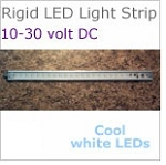 12 volt LED Rigid Strip Light, 20 inches long, 590 Lumens cool white LED, 7 watt