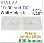 12 volt LED Light (10-30vdc) - Optronics Rvil Double Dome (double pancake) LED Surface mount light with rocker switch, choice of LED bulbs