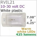 12 volt LED Light (10-30vdc) - Optronics Rvil Dome (pancake) LED Surface mount light with rocker switch, choice of LED bulbs