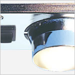 12 volt LED Light (10-30vdc) - Eyelight R 8940 ceiling light with rocker switch, Recessed adjustable