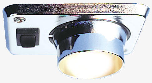12 volt LED Light (10-30vdc) - Eyelight R 8940 ceiling light with rocker switch, Recessed adjustable (white color only)