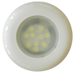 FriLight 8777 Nova LED Recess Ceiling Light, 12 volt - 24 Volt (10-30v dc),  with optional Toggle Switch, Multiple LED choices - see Bulb detail.