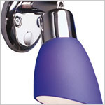 12 volt LED Reading Light (10-30vdc) - FriLight 8960 Opal M Metal with round base and rocker switch