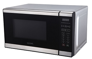 Muave' small microwave oven 0.7 cu. ft, stainless steel, 230v, CE, for export
