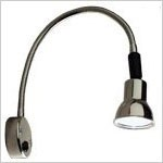 FriLight 8235 Chart Light with flexible chrome arm, switch, 12 Volt 10 watt, optional red lens