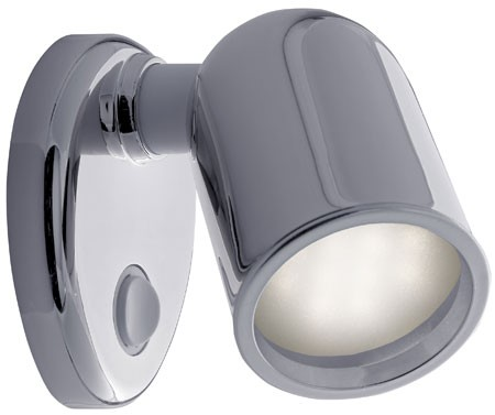 12 Volt Reading Light - Tube, Wall light with tear drop base and rocker switch, Xenon (specify ...