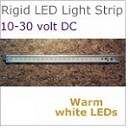 12 volt LED Rigid Strip Light, 20 inches long, 580 Lumens warm white LED, 7 watt