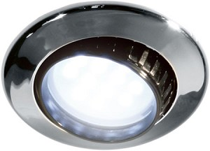 FriLight 8780 Comet R Adjustable Recess 12 volt LED Ceiling Light, Optional Toggle Switch, Multiple LED choices - see Bulb detail.