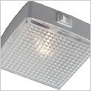 12 volt LED Utility Light (10-30vdc) - Square 8611 with rocker Switch, with WARM White LED Bulb