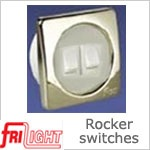 12 Volt Switches - Dual Euro Rocker Switches (12 volt or 24 volt)