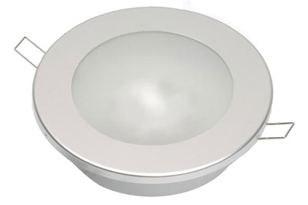 12 Volt Light - Rigg Recess Ceiling Light, 20 watt xenon or Bright 240 Lumen Warm white LED bulb options with Satin Nickel Trim Ring