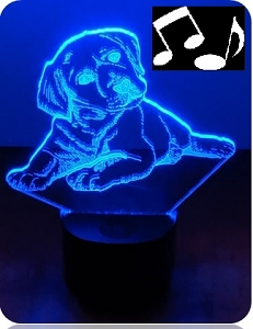 Puppy Love Portable Bluetooth Speaker with 3D Illusion Audience Light