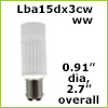 12 Volt LED light Bulbs (10-30vdc), ba15d Double Bayonet base, Cool White, 240 Lumens