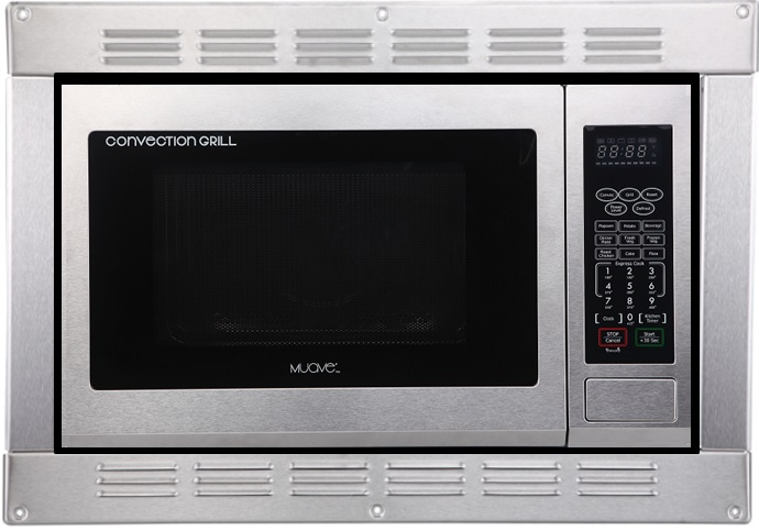 Muave' RV Microwave Convection, 120v cUL, stainless steel with built in trim kit (Open Box resale)