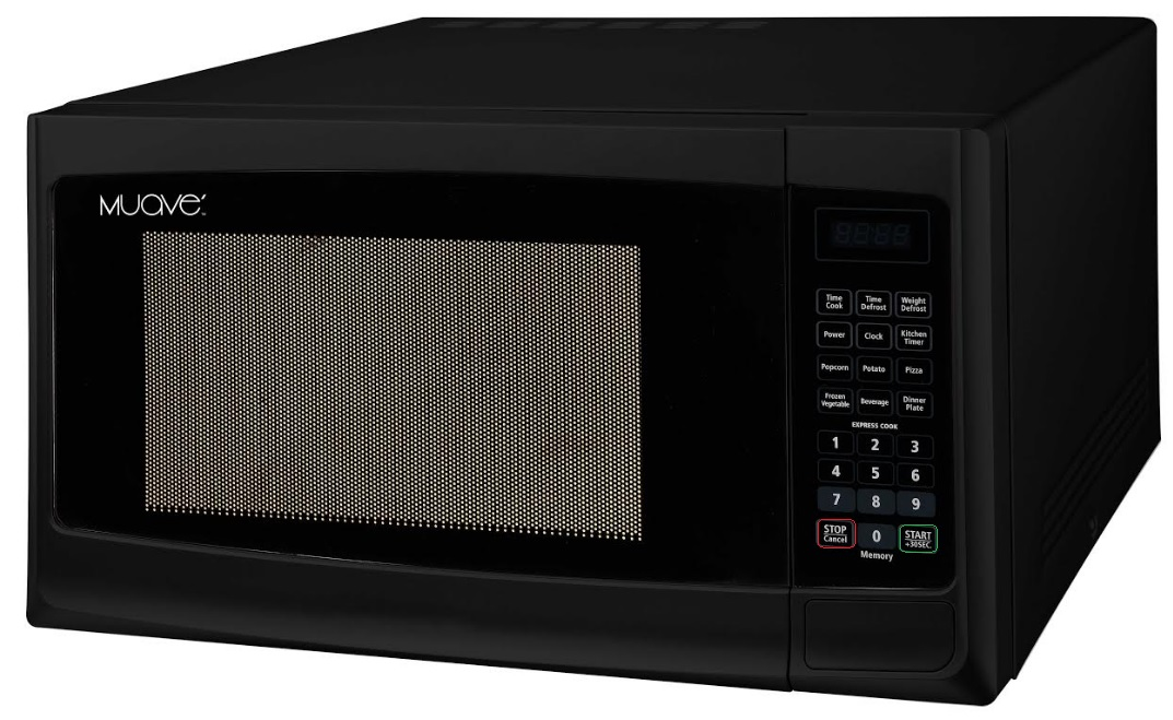 Muave' small microwave oven 0.7 cu. ft,  230v, CE, for export, color black
