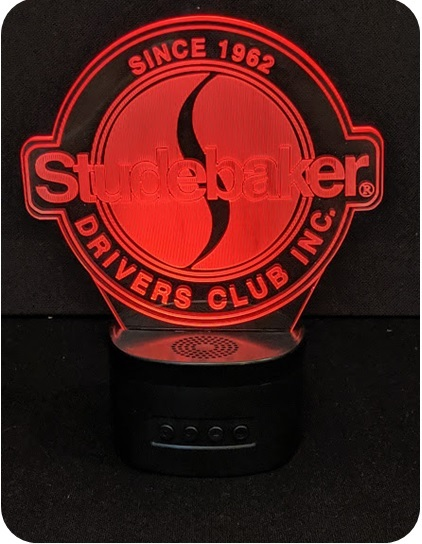 Studebaker Drivers Club Portable Bluetooth Speaker with 3D Illusion Audience Light
