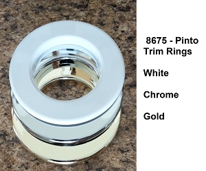Trim Ring Only - Replacement Pinto 8675 by Frilight, white, gold or chrome color options
