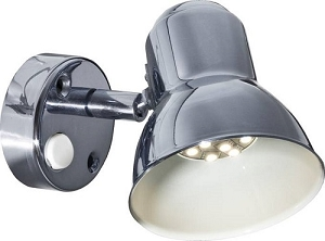 12 Volt Reading Light - FriLight 8400 Classic metal Wall light, round base, rocker switch, 12 Volt 10 watt Xenon bulb