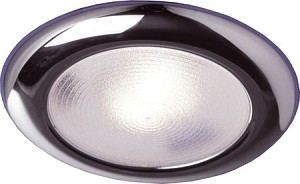 12 Volt Light - FriLight 8812 Mars Ceiling Light with Xenon 12 volt, 10 watt bulb; White or Chrome trim, Optional Toggle Switch
