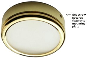 12 volt LED Light (9-16vdc) - Math LED surface mount Ceiling Light, 0.59 inch Low Profile