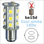 1157 -Index LED -12 Volt LED (10-30vdc), bay15d Double Bayonet index, 323 lumens cool white