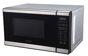 Muave' small microwave oven 0.7 cu. ft, stainless steel, 230v, CE, for export - DISCONTINUED - see replacement